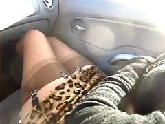 Car, Stockings, Xhamster.com